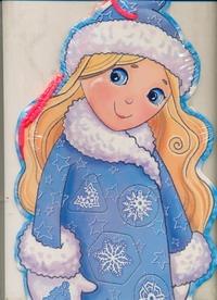 Снегурочка в снежинках(Фигурный пазл)Расскажи Снегурочка