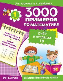 3000 примеров по математике (счёт в пределах 10). 1 класс