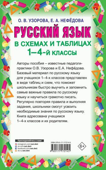 Русский язык в схемах и таблицах. 1-4 класс