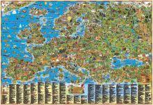Детская карта Европы