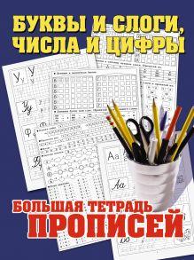 Буквы и слоги, числа и цифры. Большая тетрадь прописей